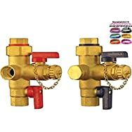 Tankless Water Heater Installation Valves (TIV) FNPT / Thread - For ALL Tankless Heaters 3/4  Connect + (1) Free...