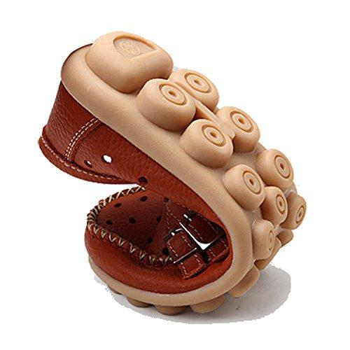 Loisir Respirant Orange Loafers De Slip Bateau Mocassins Cuir On Chaussures Plates Femme Gesimei H7Ovzz