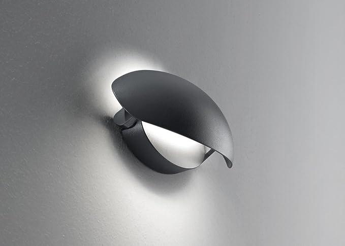 Applique led regolabile alluminio per esterni e interni colore