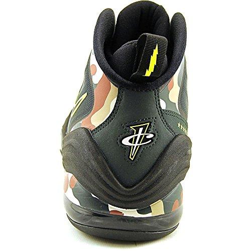 Nike Air Penny V 5 Chaussures Hommes Camo De Basket-ball Noir Épinette Noire Volts