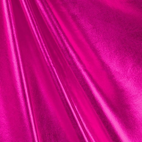 Fuchsia Foil Metallic Spandex Fabric - By the Yard