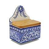 Madeira House Coimbra Ceramics Hand-Painted Decorative Salt Holder XVII Cent Recreation #137-2