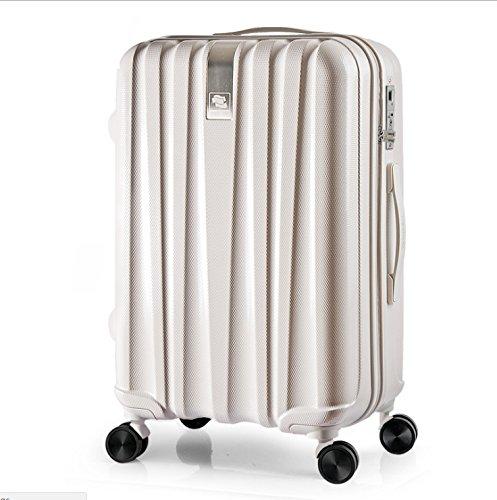 指紋のロックされていないバッグスマート識別ファッションバッグユニバーサルホイールトラベルバッグ軽量で耐久性のあるトロリーケース (色 : 銀) B07VDM1F2F 銀