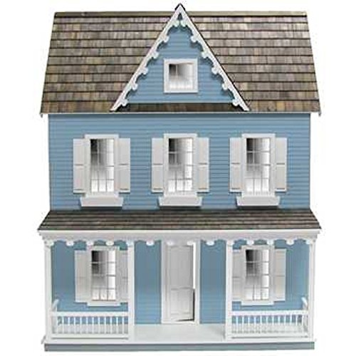 Real Good Toys Dollhouse Miniature Vermont Farmhouse Jr. Dollhouse by RGT (Real Good Toys)