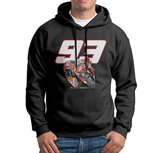 Grand Prix Hooded Sweatshirt - Marc Marquez World Champion Mens Pullover Black Hoodies Sweatshirts