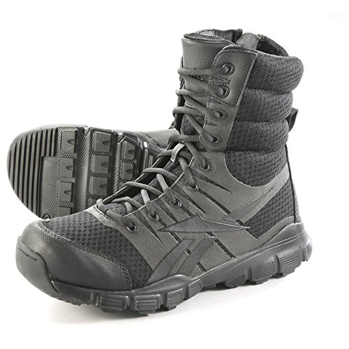 Reebok Mens Black Micro Mesh 8in Tactical Boots Dauntless Soft Toe 10.5 M