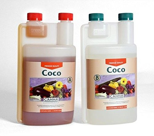 vv Hydroponics Canna Coco A+B 1 Litre Veg And Flower Plant Food Base Nutrients