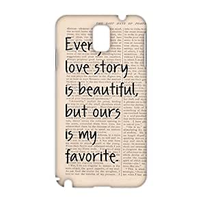 Every Love Story Is Beautiful But Ours 3D Phone Case for Samsung note3