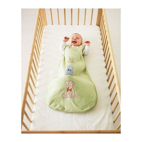 IKEA MINIBJORN - Saco de dormir, de color verde claro - 0-6: Amazon.es: Hogar