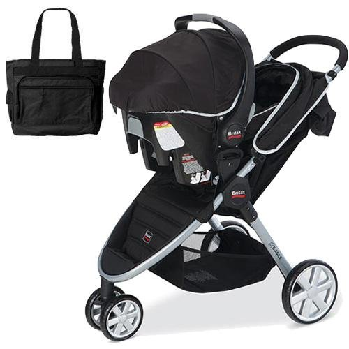 UPC 045625030933, Britax - B-Agile travel system with matching car seat and diaper bag in Black