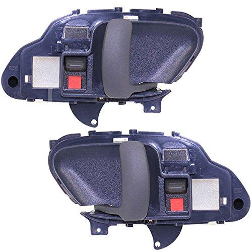 Koolzap For Chevy Truck Suburban Tahoe Blue Inside Inner Door Handle Left & Right SET PAIR (Door Inner Chevy Truck)
