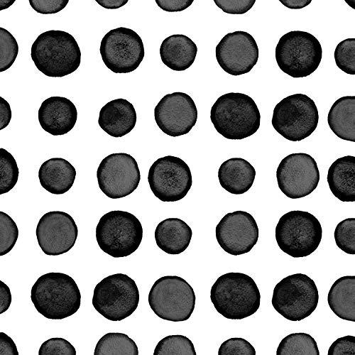 Black Licorice Dots and Stripes Beverage Napkins, 72 ct
