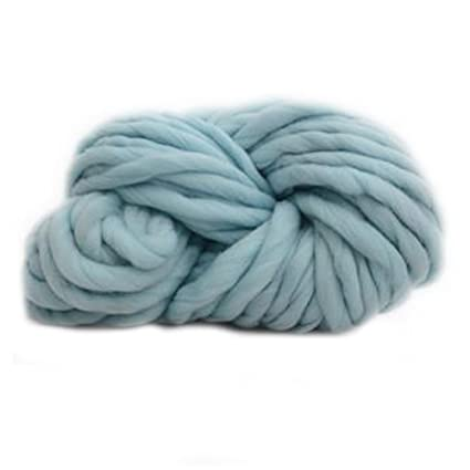 706ec7b0ef2e Souarts Grosse Pelote à Tricoter Fil de Laine pour Chapeau Écharpe Bleu  Clair 1 Rouleau