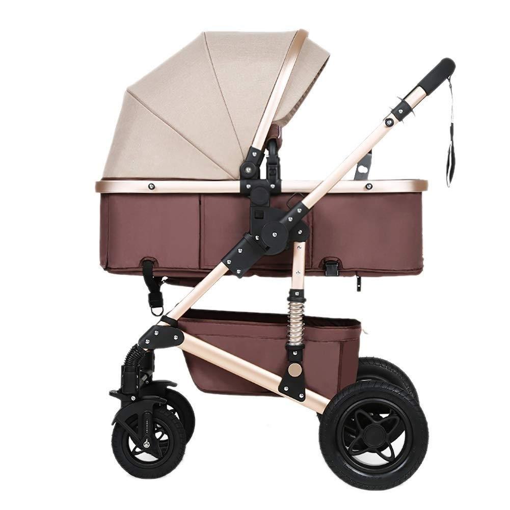 TYUIO Cochecito Cuna Cochecito Reversible Cochecitos Infant All Terrier Baby Carriage City Toddler Cochecito para ni/ña Color : A