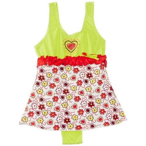 Playshoes - Maillot une pièce Fille - Sun Protection Swimsuit Hearts