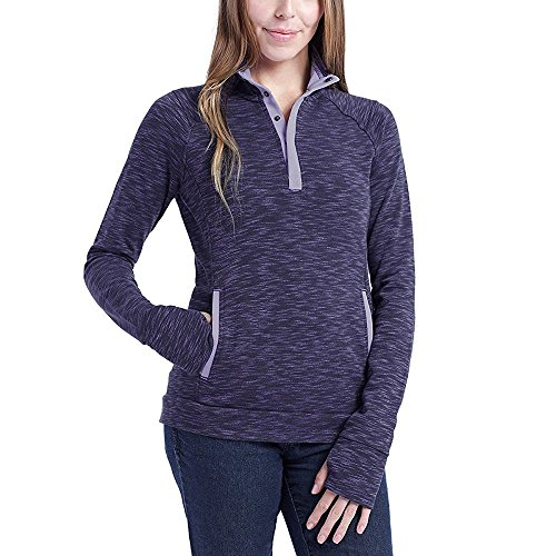 Avalanche Ladies' Snap Neck Pullover (Lavender, Large)