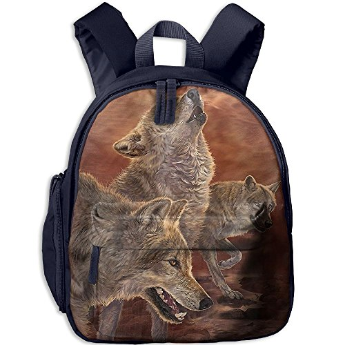 Astro Boy Merchandise (Small School Daypack Design With Wolf For Kindergarten Boys Girls Navy)