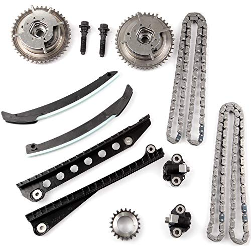 Ocpty Timing Chain Kit Tensioner Guide Rail Crank Sprocket Fits For 2004 2008 Ford F 150 F 250 Super Duty 5 4l Sohc Vin 5 V 1xl3z 6306 Aas