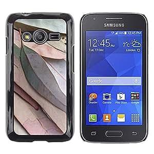 TopCaseStore / la caja del caucho duro de la cubierta de protección de la piel - Leaves Autumn Fall Green Nature Tree - Samsung Galaxy Ace 4 G313 SM-G313F