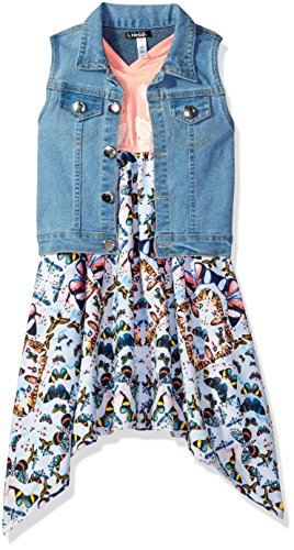 Kensie Little Girls' Casual Dress (More Styles Available), 2838 Multi, 5/6
