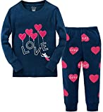 Best Heart Girls - Little Girls Clothes Heart Cotton Sleep Pajamas Cartoon Review