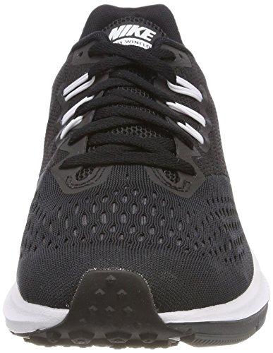 Femme Noir Noir 4 NIKE Winflo Running Foncé Blanc WMNS Gris Chaussures de Zoom 4Sq8FSw0