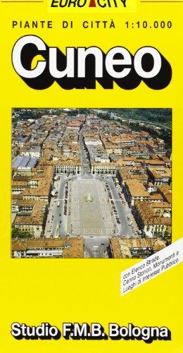 Cuneo, pianta della città (Euro-City) (Italian Edition)