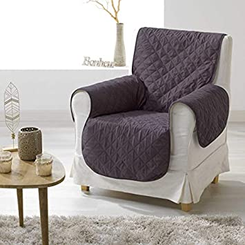 Douceur DIntérieur 1605235, Protector de sofá, 165 x 179 Cm , Club , Microfibra Liso , Gris