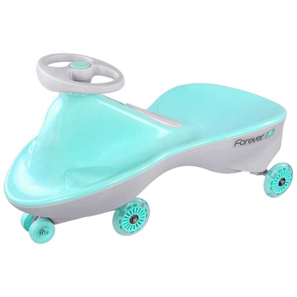 子供のツイスト車の三輪車の振動車puのフラッシュ車輪の歩行者の屋外のバランス車の二重座席積載量88kg 1-4歳の誕生日プレゼント (Color : PINK, Size : 69.5*37*29CM) 69.5*37*29CM PINK B07SCY78V4