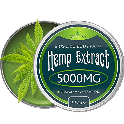 Muscle Salve - Premium Hemp Balm - Ultra Strong Natural Pain Relief - 5000mg Hemp Extract - Rosemary & Hemp Oil - Anti-Inflammatory for Joint & Muscle, Arthritis Pain - Fast Acting Hemp Salve - Made in USA - Non-GMO
