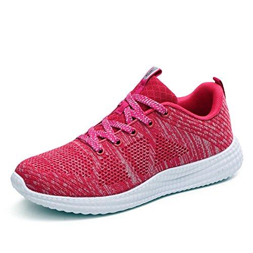 BRKVALIT Unisex-Erwachsene Sneakers Herren Damen Turnschuhe Freizeitschuhe Laufschuhe Sportschuhe Turnschuhe Rosa