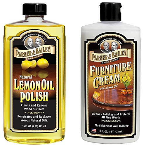 Parker and Bailey Natural Lemon Oil Polish Bundled with Furniture Cream (Bailey Stool)