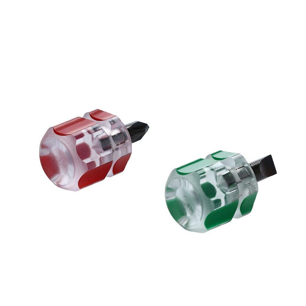 Xindda 2pcs/Set Mini Short Stubby Phillips Slotted Screwdriver Tools Kit Set Useful by Xindda (Image #4)