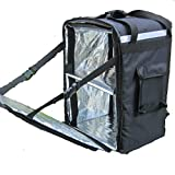 PK-86Z: Extra Large Heavy Duty Pizza Delivery Backpack, Fresh Food Delivery Bag, Restaurant Take Out Box for Scooter, Warmer Bags, Side Loading, 2 Ways Zipper Closure, 16'' L x 13'' W x 24'' H