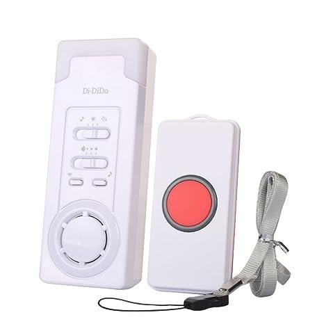 ANPI Buscapersonas inalámbrico de Emergencia, Alarma, botón de Emergencia para Pacientes Ancianos, discapacitados, Mujeres Embarazadas