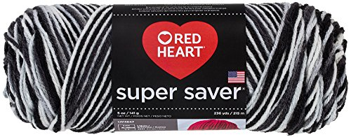 - Red Heart E300.0932 Super Saver Yarn, Zebra Print
