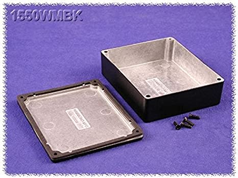 HAMMOND 1550WMBK Enclosure, Diecast, Light Duty, Watertight, IP66, Instrument, 120 mm, 100 mm, 35.4 mm (1 piece)