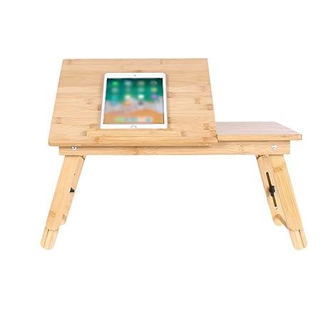 ZXQZ Mesa plegable, escritorio portátil for el hogar se puede ...