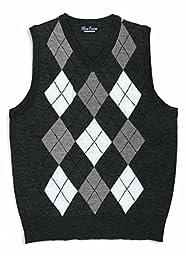 Blue Ocean Kids Argyle Sweater Vest-16/Large