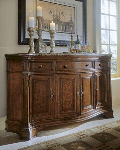 - Universal Furniture Villa Cortina Storage Credenza with Marble Top Drawer
