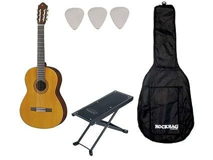 Set Yamaha C40-Guitarra clásica (Funda) reposapiés