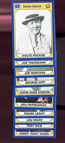 - 1990 Collegiate Collection Notre Dame Joe Montana #3 Football PROMO Complete Set