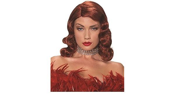 Mujer Sexy Jessica Rabbit Hasta Los Hombros Rojo Años 50 Disfraz ...