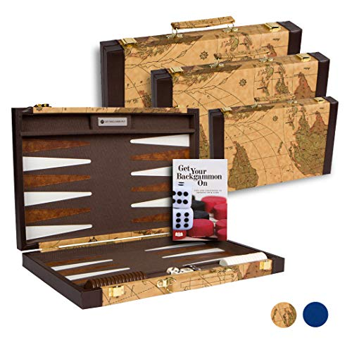 Get The Games Out Top Backgammon Set - Classic Board Game Case - Best Strategy & Tip Guide - Available in Small, Medium and Large Sizes (Map, - Game Set Backgammon