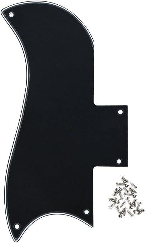 IKN 3Ply color negro/color blanco/negro 5 agujeros SG guitarra ...