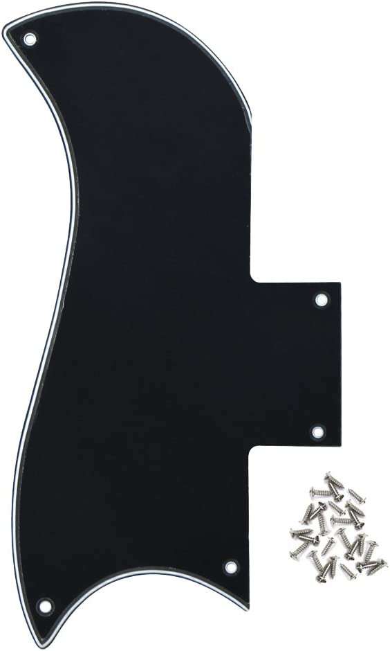 IKN SG Golpeador 5 agujeros guitarra rasca placa con tornillos para Gibson SG 61 Reissue Style Part, 3 capas negro/blanco/negro: Amazon.es: Instrumentos musicales