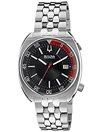 Bulova 96B210 Men's Accutron II Snorkel Black Dial Stainless Steel Link Bracelet Precisionist Dive Watch