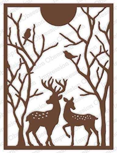 Spotted Deer - Impression Obsession DIE769YY Spotted Deer Frame Steel Craft Die