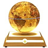 Kabaddi Magnetic Floating Globe Anti-Gravity Rotating Levitating Globe World Map with Star Constellation & Zodiac Display for Home Office Desk Decor, Birthday Gift(6 inch Vintage Gold)