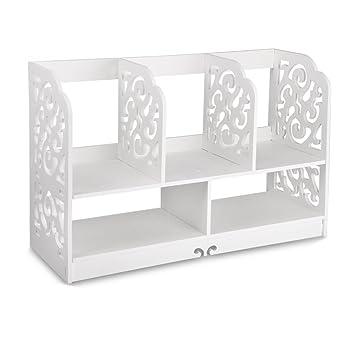 Perfect Finether Kleines Regal Bücherregal Aufsatzregal Aufbewahrungsregal  Tisch Organizer Für Wohnzimmer Badezimmer Zur Aufbewahrung Von Bücher